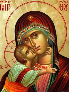 Frescele lui Alexandru Soldatov (Partea a Byzantine Icons, Byzantine Art, Religious Icons, Religious Art, Queen Of Heaven, Madonna And Child, Blessed Virgin Mary, Guardian Angels, Orthodox Icons