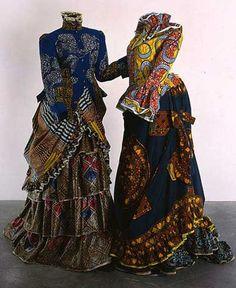Yinka Shonibare costume sculpture art work vivid prints