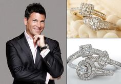 """David Tutera host of """"My Fair Wedding"""" has his own line of bridal jewelry, available at Sears."""