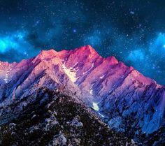 Noche estrellada en la montaña