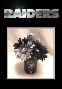 Oakland Raiders Flower Pen Bouquet  www.creativepensbyedith.com