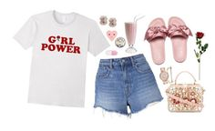 """""""Girl Power 🌹"""" by love-rebelwolf ❤ liked on Polyvore featuring T By Alexander Wang, MIANSAI, Dolce&Gabbana, Michael Kors and ban.do"""