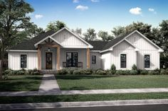 This modern farmhouse plan sports cool details and smart features throughout. Questions? Call 1-877-222-1762 today. #architect #architecture #buildingdesign #homedesign #residence #homesweethome #dreamhome #newhome #newhouse #foreverhome #interiors #archdaily #modern #farmhouse #house #lifestyle #design #buildersareessential
