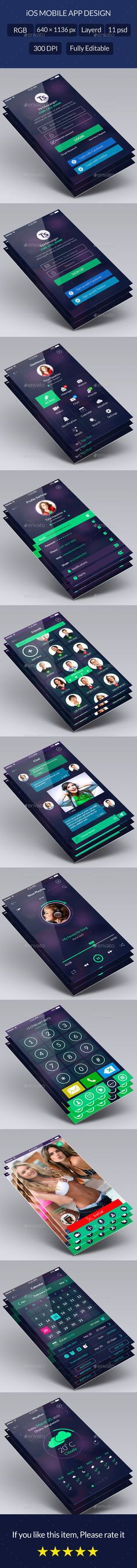 Clean Flat App UI Design Kit (User Interfaces)