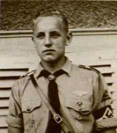 Erich Hartmann in his Hitler Youth Uniform