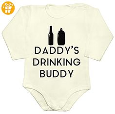 Dads Drinking Buddy Baby Romper Long Sleeve Bodysuit Medium - Baby bodys baby einteiler baby stampler (*Partner-Link)