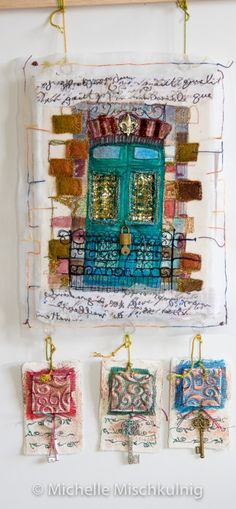 """Using some of that """"stuff """"in the sewing room Mystery is at the heart of creativity. That, and surprise. Julia Cameron While doing the New year tidy up in my sewing, creating, p…"""