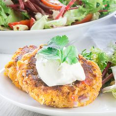 Salmon and sweet potato fishcakes