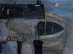 "benita-loca: Daphne Mac Clure""Harbour Light""Mixed Media on canvas"