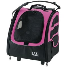 Pet Gear I-GO2 Traveler Roller Backpack for cats and dogs, Pink - http://www.thepuppy.org/pet-gear-i-go2-traveler-roller-backpack-for-cats-and-dogs-pink/