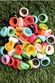 bubble rings. The kind I use to get from the dentist.