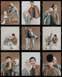 Pre Wedding Shoot Ideas, Pre Wedding Poses, Pre Wedding Photoshoot, Couples Poses For Pictures, Prenup Photos Ideas, Korean Wedding Photography, Wedding Couple Poses Photography, Studio Photography Poses, Muslimah Wedding