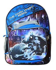 Dc Comics Wb Batman Boys School Backpack With Dual Lunchpack Blue/Black - deal fitness Hiking Backpack, Laptop Backpack, Winter Hoodies, Cool Backpacks, Coupon Lingo, Elite Socks, Vintage Sweaters, Jansport, Dc Comics
