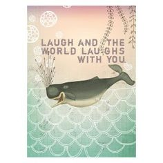 Laughing Whale 5x7 Card
