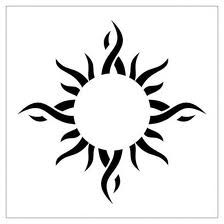 tribal sun tattoos for men - Google Search