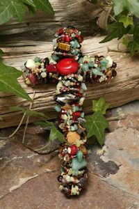 Coral & Jade Gemstone Wall Cross Starting at $119.00 www.celebratefaith.com