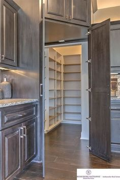 Traditional Pantry with Home legend - hand scraped natural acacia click lock wood flooring, White Glimmer Granite Countertop