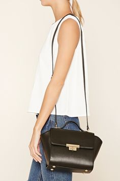 $19.99  Faux Leather Trapeze Satchel