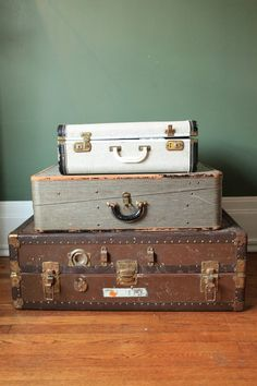 Trio of Trunks  — Best offer $85  so much fun to use as storage. and in a guest room