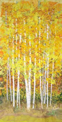 Quilted Art from Mary Katherine Hopkins: Gallery - Landscape Landscape Art Quilts, Flower Landscape, Landscapes, Creative Textiles, Tree Leaves, Applique Quilts, Fabric Art, Autumn Leaves, Fiber Art