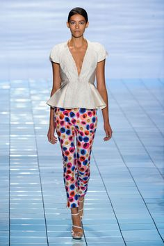 Défilé Lie Sang Bong, prêt-à-porter printemps-été 2015, New York. #NYFW #Fashionweek #runway