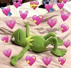 Kermit the frog heart meme The post Kermit the frog heart meme appeared first on Kermit the Frog Memes. Frog Wallpaper, Cartoon Wallpaper, Iphone Wallpaper, Tom Holland, New Memes, Funny Memes, Sapo Kermit, Frog Heart, Memes Amor