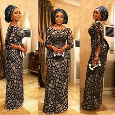 2018 Latest African Tulle Lace Fabric High Quality African Lace Fabric With Sequins lace material For Nigerian Women African Attire, African Wear, African Fashion, Tulle Lace, Lace Fabric, Fabric Sewing, Prom Night Dress, Ankara Stil, Dinner Gowns