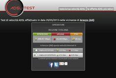 Quasi 300 Mbps in download nuovo record fatto dalla Regione Toscana su www.adsl-test.it