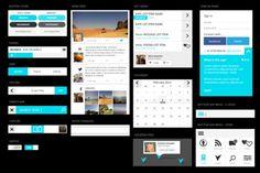 25 лучших PSD-файлов с мобильными интерфейсами