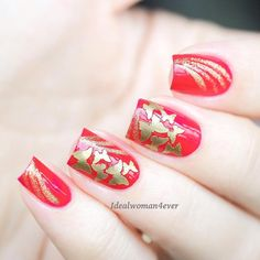 These gold nail stickers and stencils are of scattered butterflies to give you a…