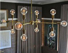 brass. love this..  Apparatus Studio {brass vintage industrial luxe chandelier} by recent settlers, via Flickr