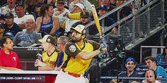 """jcjoeyfreak: """"Tyler Hoechlin hitting a home run during MLB's Celebrity Softball Game """""""