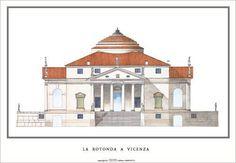 Jefferson built Monticello based on the Villa Rotunda