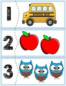 Back To School Self Correcting Number Puzzles Back To School Activities, Preschool Activities, Number Puzzles, Numbers Preschool, Primary Maths, Number Recognition, School Items, Kindergarten Math, Fun Math