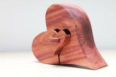 Holzherz mit Schublade von pfiati - mit Liebe zum Holz auf DaWanda.com