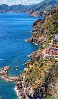 Riomaggiore, Cinque Terre coast of Liguria, Italy