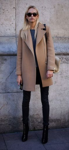 jacket + skinnies + boots.
