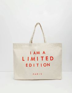 My Bags, Purses And Bags, Cotton Tote Bags, Reusable Tote Bags, Bag Quotes, Minimalist Bag, Fabric Bags, Casual Bags, Canvas Tote Bags