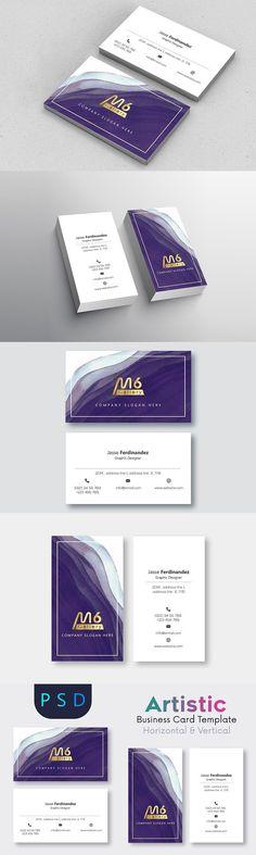 Artistic Business Card Template- S08  businesscardtemplate  bestbusinesscard 5528ea5ba0a3a