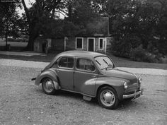 Renault 4 CV Luxe - Front Angle, 1950, 1024x768, 2 of 2
