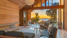 The house opens right up to the magnificent view.