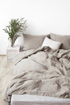 Natural Stone Washed Linen Duvet Cover by LinenTalesInBed on Etsy