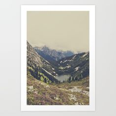 Mountain Flowers Art Print by Kurt Rahn. Worldwide shipping available at Society6.com. Just one of millions of high quality products available.