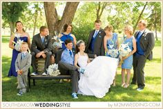 Fun Mobridge and Aberdeen, SD Wedding by Moment to Moment Photography  | Blue and White