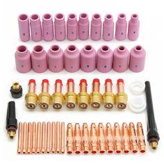 51pcs tig Kit y accesorios de soldadura TIG antorcha consumibles aptos para el WP 17 18 26