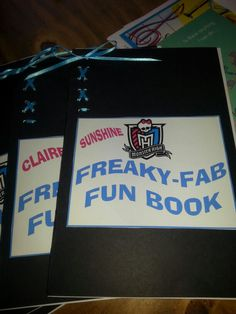 Monster High party fun note book favors