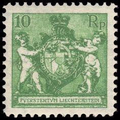 Liechtenstein 1924 10R Yellow-Green Wmk Mint Lightly Hinged