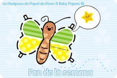 """La """"Mariposita de Papel"""" de Mom & Baby Papers."""