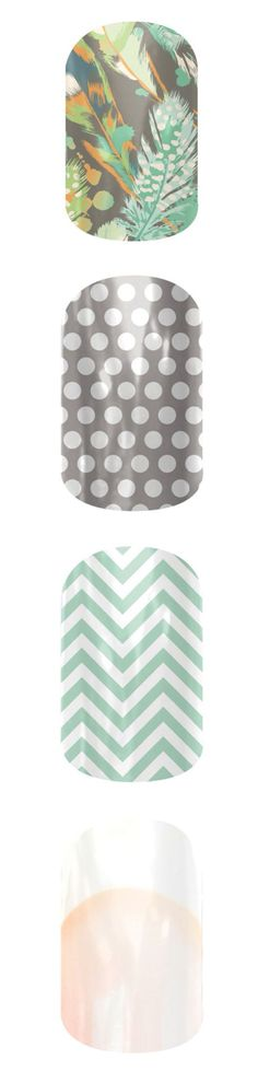 Gorgeous green and gray styles! These would look beautiful together. #jamberry #muddygirl #art #nails http://www.luvmyshields.jamberrynails.net/