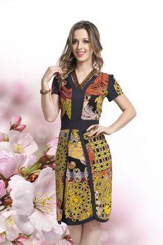 Vestido Viscose - Bella Herança - Moda Evangélica e Roupa Evangélica: Bela Loba